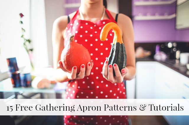 Free Gathering Apron Patterns | Becky Cooks Lightly