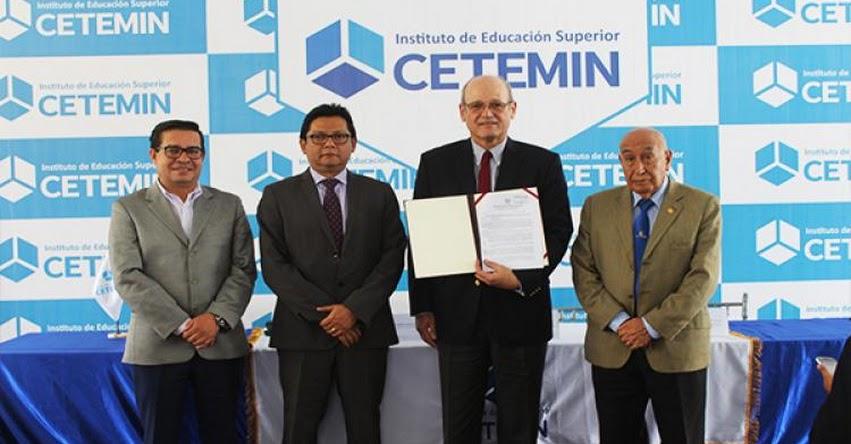 CETEMIN es el único instituto con modalidad internado licenciado por el MINEDU en Perú