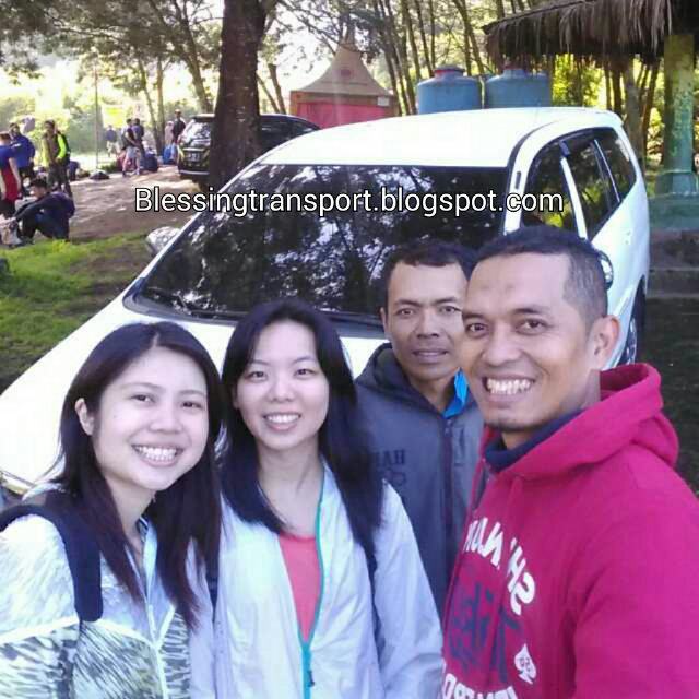Ms.Delphine and friend (SG) with Imam-our driver and Koni-our guide, transport from Cemoro Lawang to Ijen-Surabaya. August 5th to 6th, 2016.