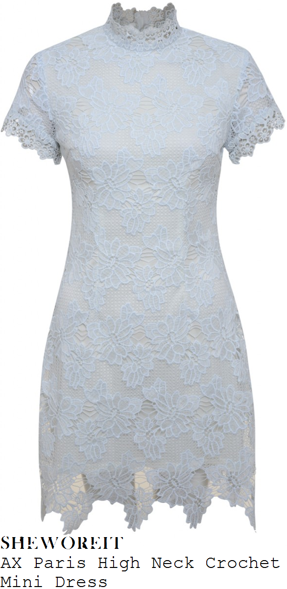 rosie-fortescue-cream-white-sheer-floral-crochet-lace-short-sleeve-high-neck-mini-dress