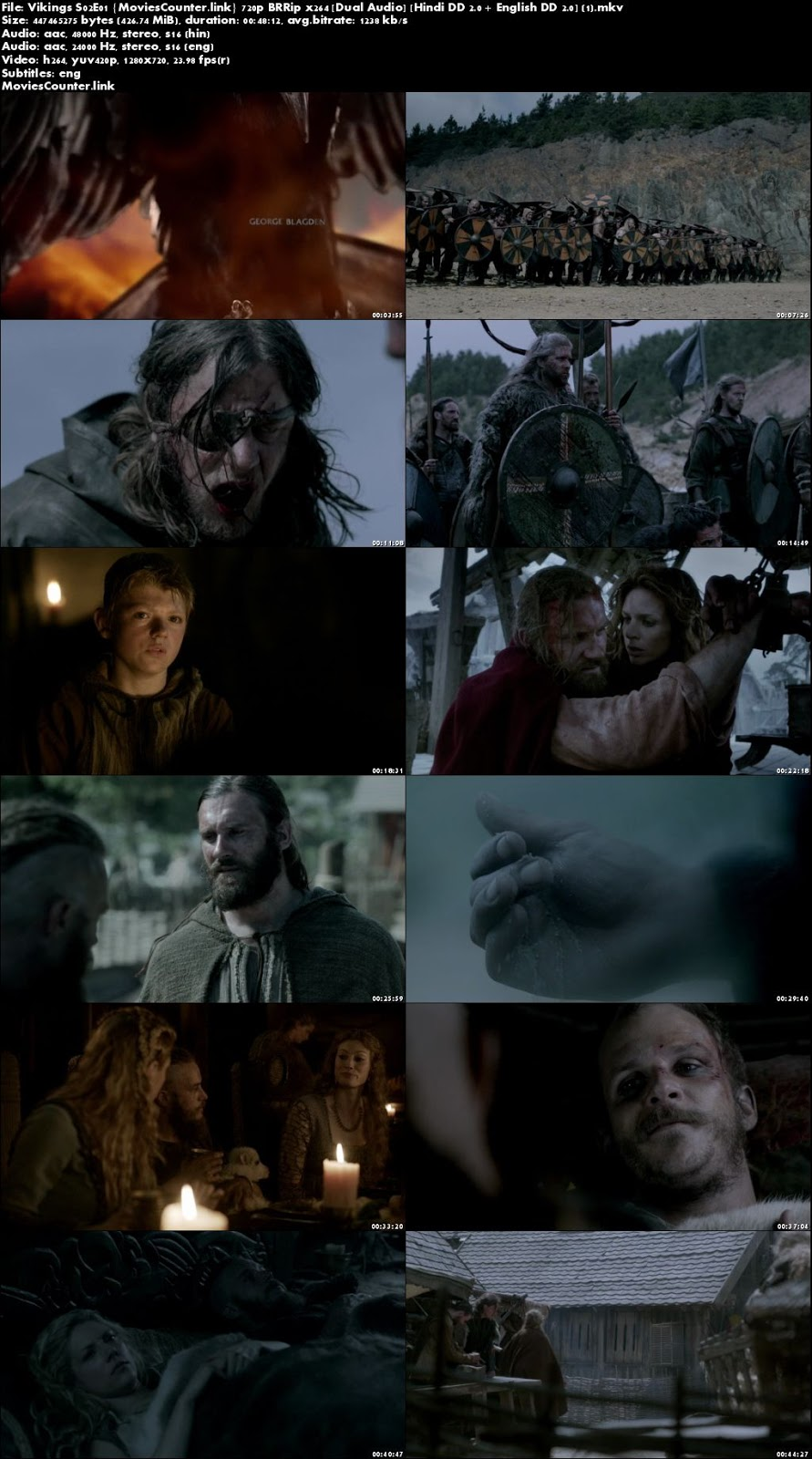 Screen Shots Vikings 2013 Season 2 Dual Audio HD 720p