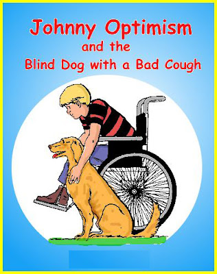 Johnny optimism, johnnyoptimism, stilton jarlsberg, lance the dog, medical humor, wheelchair, origin
