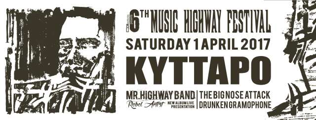 6th Music Highway Festival: Σάββατο 1 Απριλίου @ Κύτταρο με Mr. Highway Band, The Big Nose Attack και Drunken Gramophone