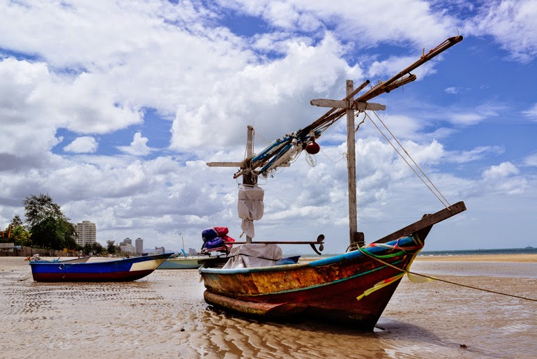 Boats on the Beach Hua Hin, Thailand Thierry Coulon