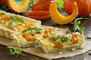 Тыквенно-сырный тарт