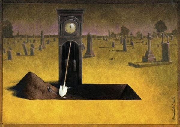 satirical illustrations by pawel kuczynski