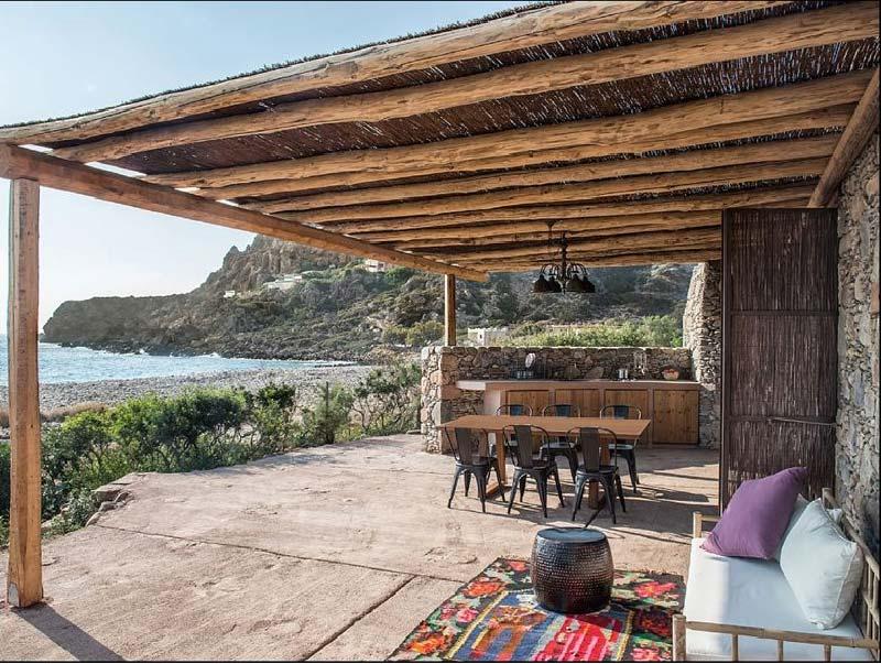 veranda con pergolato
