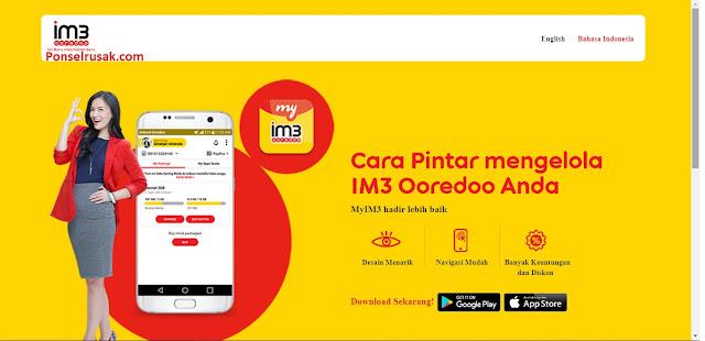Cara mengetahui sisa kuota internet Indosat melalui webite resminya.