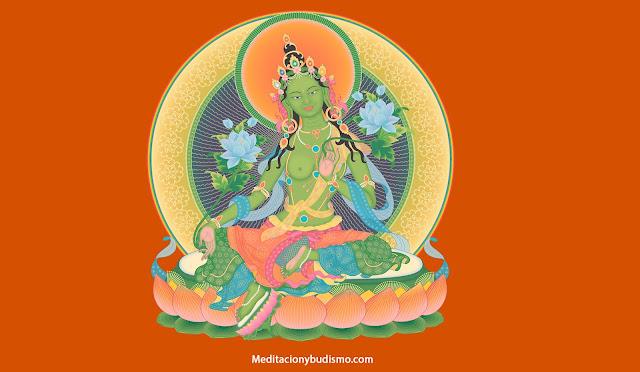 El poderoso mantra de la madre de todos los budas, Tara Verde