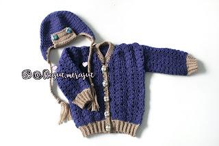 topi rajut bayi, sweater rajut bayi, crochet baby sweater, crochet aviator hat, baby sweater, baby hat, crochet