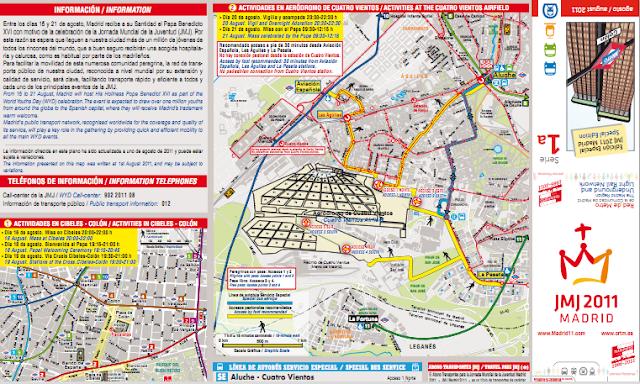 Información de Transporte Público durante la JMJ