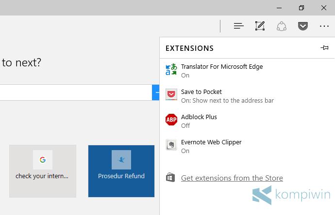Cara Instal Ekstensi Browser Microsoft Edge 17