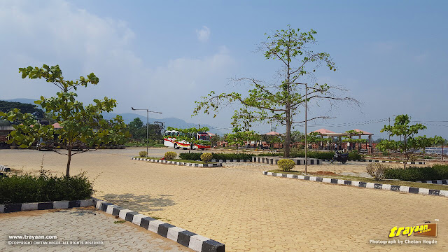 Spacious parking at OTDC Panthanivas and Water Sports Complex