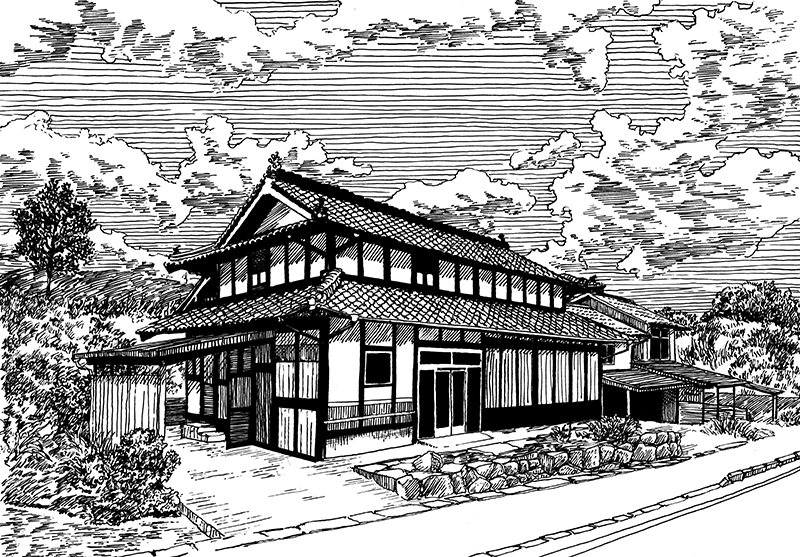 16-Evgenii-Sarychev-Japanese-Urban-Sketch-Drawings-www-designstack-co
