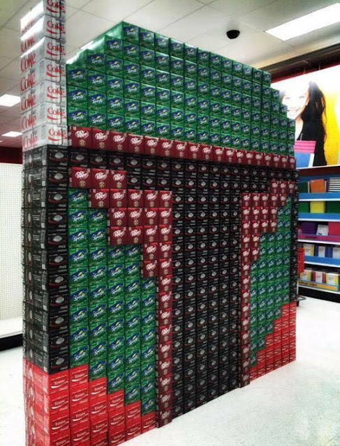 Boba Fett made out of soda boxes