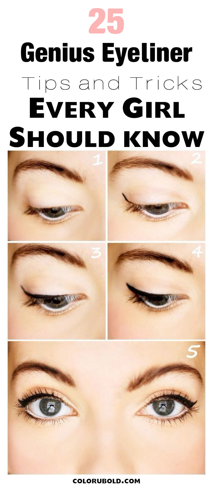 eyeliner hacks for the perfect cat eye