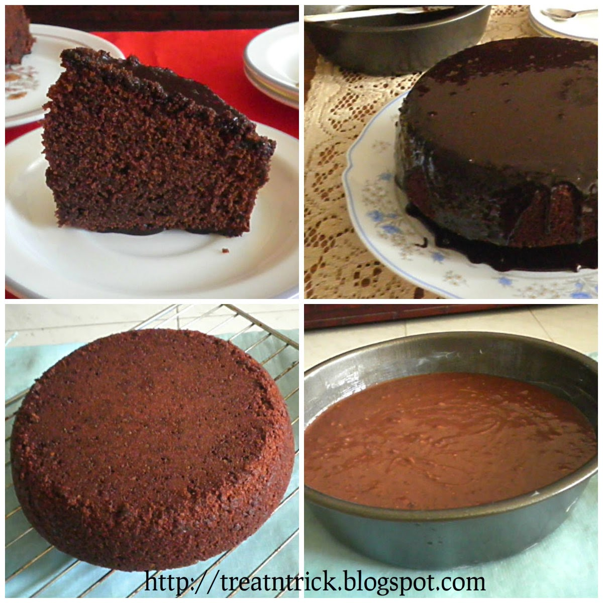 Chocolate Cake w/Chocolate Frosting Recipe @ treatntrick.blogspot.com