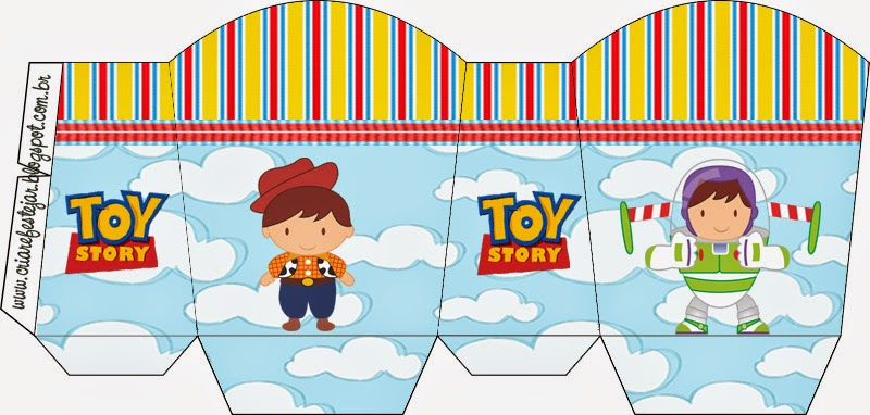 Toy Story  Free Printable Basket.