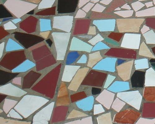 Tinuku.com Bukit Indah Restaurant & Hotel stylish mosaic tile floor to dramatize romantic panoramic city night
