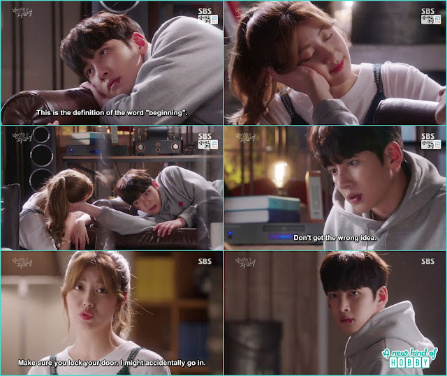 ji wook hold bong hee face and then ask her not to get any wrong idea -  Suspicious Partner: Episode 11 & 12 korean drama