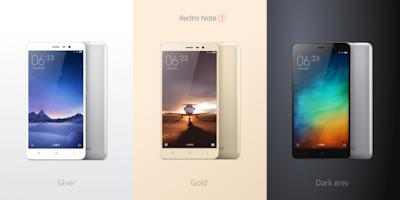 Redmi Note 3 Colours