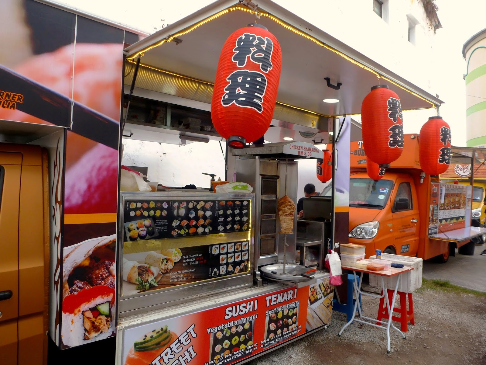 Japanese Cuisine Food Truck Penang Food For Thought Street Sushi