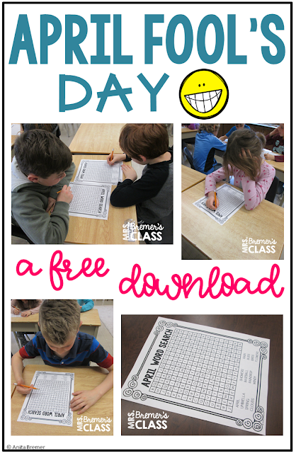 A fun April Fool's Day trick to play on your students, including a free download! Grades 1-3 #aprilfools #freebies #1stgrade #2ndgrade #3rdgrade