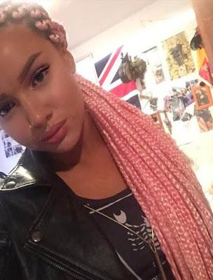 trenza africana rosada juvenil