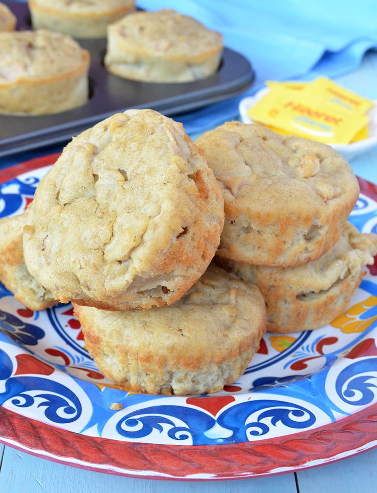 Muffins de manzana y avena sin azúcar