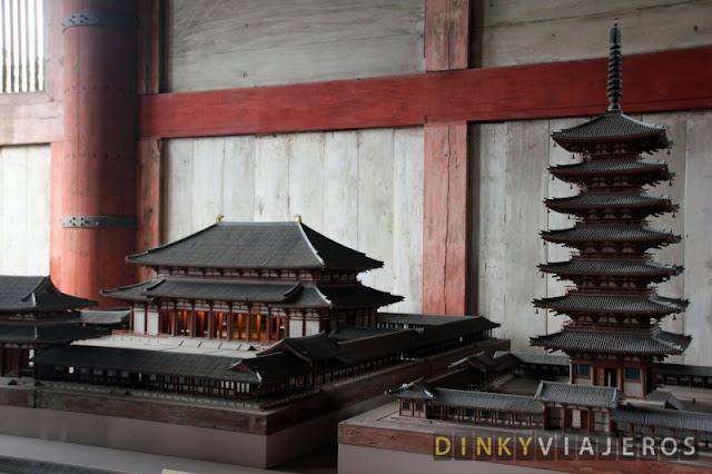 Maqueta de la estructura original del templo Todai-ji