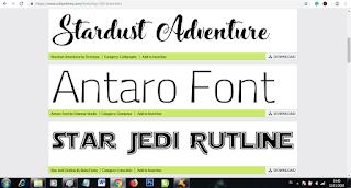 cara memasukkan font ke photoshop