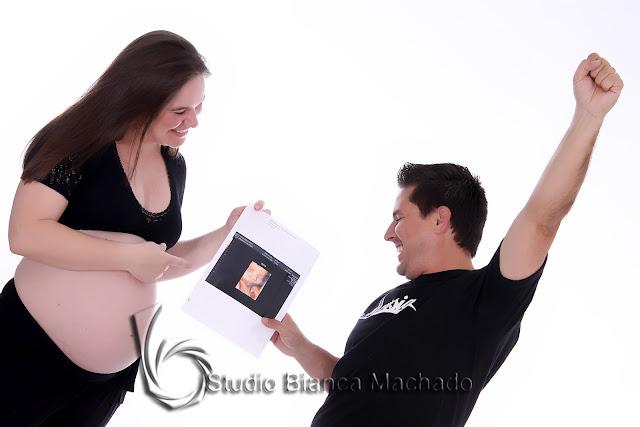 fotos para gravida em estudio