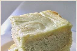 Green Tea Cream Cheese White Chocolate Brownie