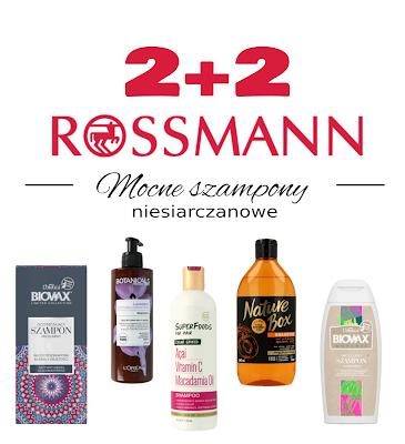 Rossman 2+2 - Szampony mocne z silnym detergentem, ale niesiarczanowym