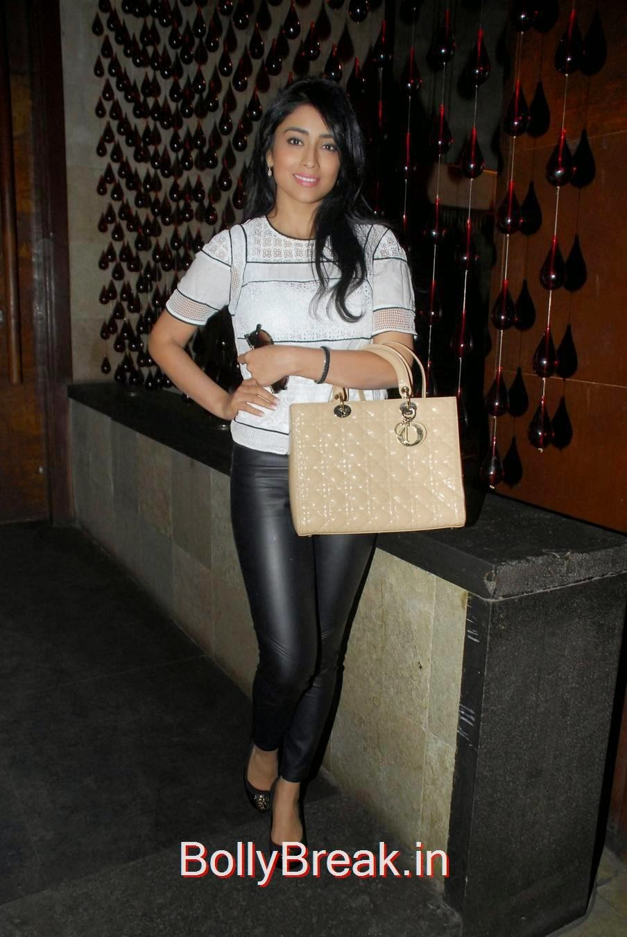 Telugu Actress Shriya Saran, Shriya Saran Hot Pics in Black Tight Leggings & Top at event
