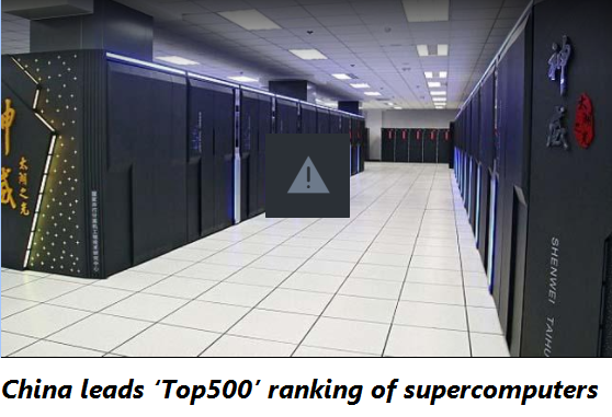 China leads 'Top500' ranking of supercomputers