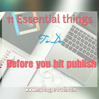 BEFORE YOU HIT PUBLISH