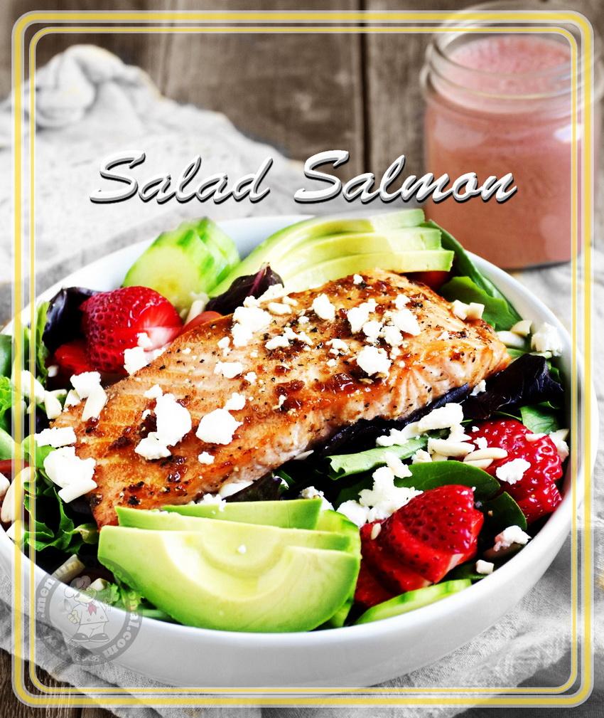Resep Salad Ikan Salmon Dengan Buah-buahan Lezat