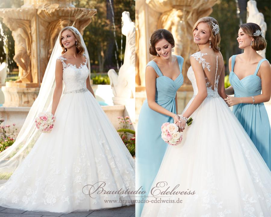Brautkleider aus Tüll. Die Eleganz des Tülls und der Effekt des ...