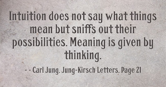 Carl Jung: Intuition does not say what things mean but sniffs...