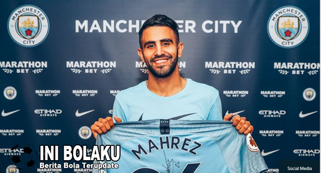 RESMI : Mahrez Bergabung Manchester City