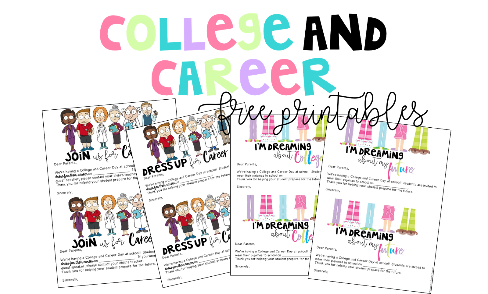 College And Career Day For Elementary Students Free Printables