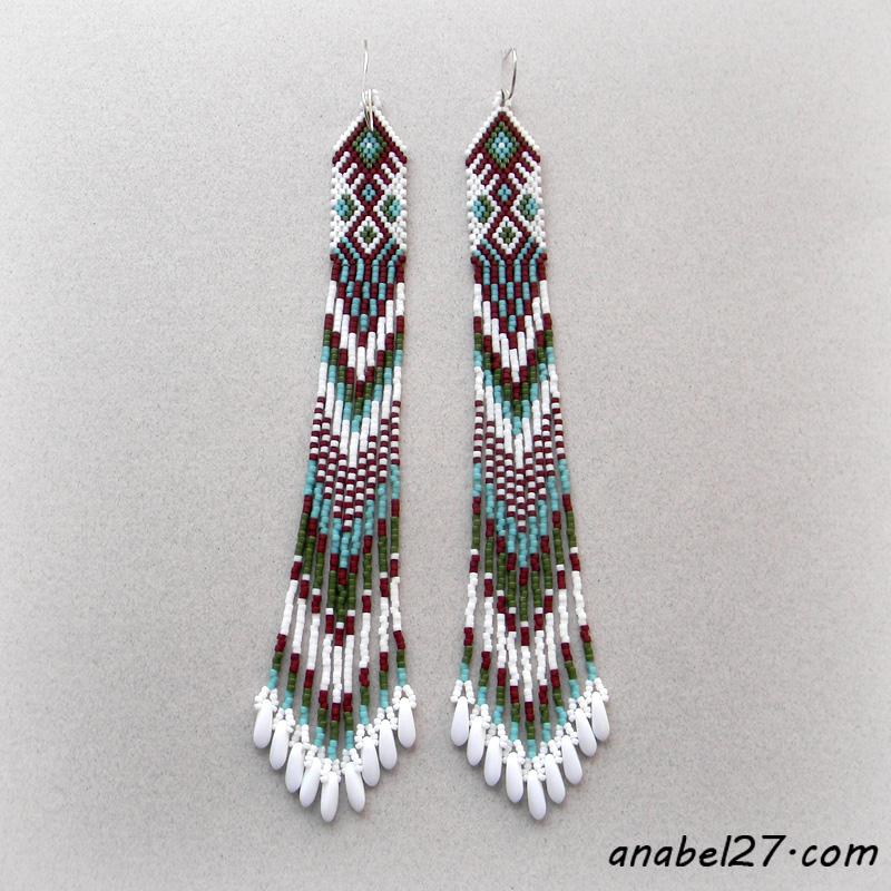 Индейские серьги