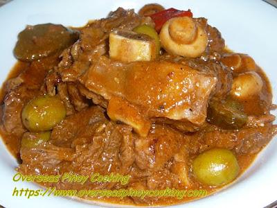 Beef Kaldereta, Kalderetang Baka