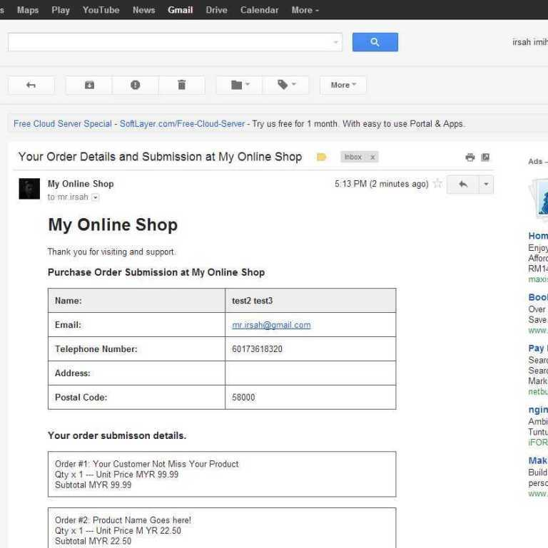 Email Invoice Data Setting Up Your Blogger Store / Shop Template