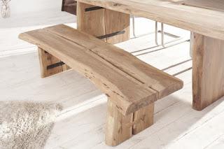 Dřevěná lavice k jídelnímu stolu natural Reaction