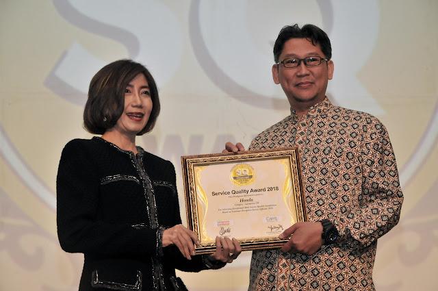 Berkualitas Layani Pelanggan, AHM Kembali Raih SQ Award