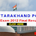 Uttarakhand PCS Exam 2012 - Check Result and Final Selection List