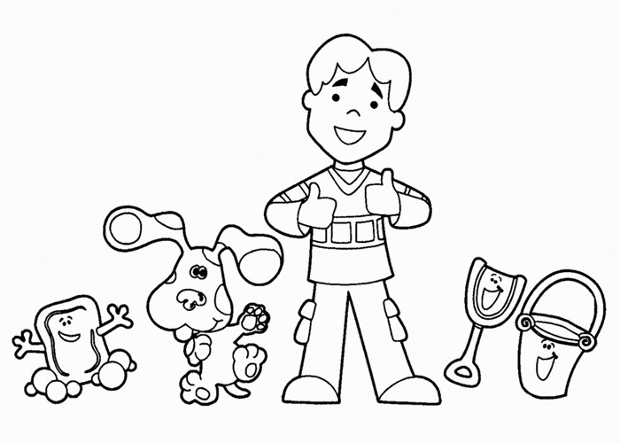 Blues Clues color pages | Free Coloring Pages and Coloring ...