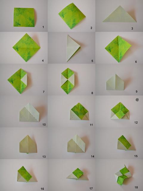 Origami Kusudama Diagram